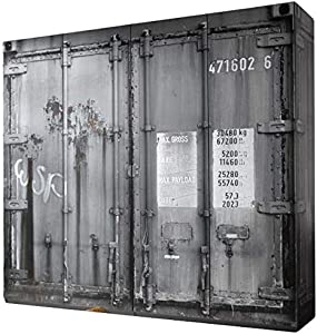 Kleiderschrank Container-Optik 4 Türen B 237 cm Kinderzimmer Jugendzimmer Schlafzimmer Drehtürenschrank Wäscheschrank