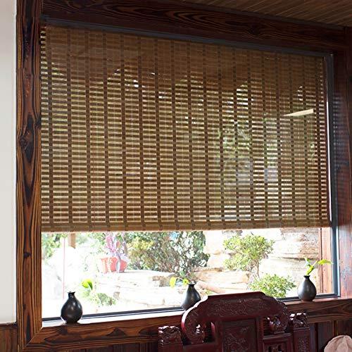 Persiana Enrollables Bambú Persianas Enrollables de Bambú de Estilo Japonés, Parasol para Persianas de Ventana Interior / Exterior, Fácil de Instalar, 80cm / 100cm / 120cm / 140cm / 150cm de Gran Angu