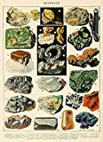 SIGNCHAT Minerals Poster Art Geology Print Rock Geology Chart Vintage Style Educational Scientificrt A Art Wall Decor Metal Sign Poster 8x12 inches