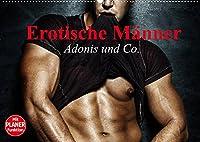 Erotische Maenner. Adonis und Co. (Wandkalender 2022 DIN A2 quer): Stilvolle Maennererotik und starke Muskeln fuer aufregende Momente (Geburtstagskalender, 14 Seiten )
