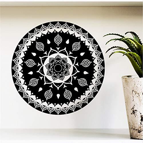 Lglays Calcomanías de pared con diseño de mandala para yoga, decoración del hogar, decoración de pared, vinilo extraíble, 40 x 40 cm