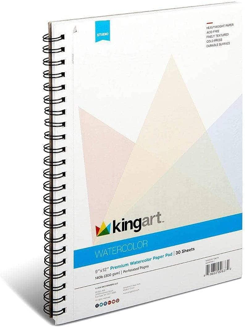 KINGART Pad Textured Ranking TOP4 Genuine Free Shipping Perforated Cold Side Press Wire Bound