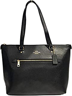 Coach Gallery Tote in Black with Gold Hardware