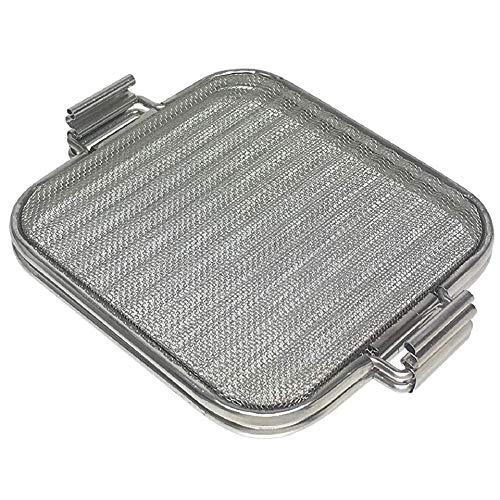 ストリックスデザイン ホットサンドメーカー オーブントースターやグリルでつくるホットサンド ステンレス 15×15cmのパン対応 厚み調節2段階 スチーム対応 両面焼き目 波型 分解可能 メッシュ SA-136
