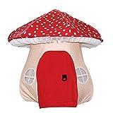 Kibten Creative Mushroom Kids Play Tent Boy Child Play House Sala de Juguetes Interior Juego Casa de algodón Niñas Princess Castle Tent Doll Jardín Exterior Niños Larder Teepee Tent con 2 Ventanas