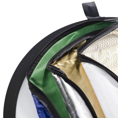 Walimex 7-in-1 Faltreflektor Set (107 cm, mit 7 verschiedenen Bezügen)
