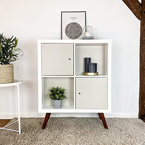 Regaleinsatz passend für Ikea Kallax und Expedit Regal Fächer   Soft Green   Als stufenlos versetzbares Cover oder Tür   Rückwand Raumtrenner Ordnung Deko  Ohne Schrauben   33,5x33,5x0.5cm