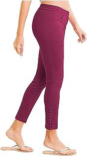NAARI Women 100% Cotton Ankle Length Cigarette Pants   Straight Fit   2 Pockets