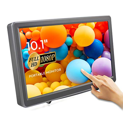Touchscreen Tragbarer Monitor von ELECROW, 10,1-Zoll kapazitives IPS HDMI Touch Screen Display 1920×1080p mit Eingebaut Lautsprechern für PC/Raspberry Pi/Game Consoles
