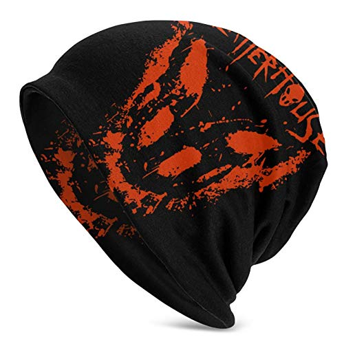 huatongxin Beanie Knit Hats, Splatterhouse Skull cap Slouchy Knit Hat per Uomo Donna Autunno Inverno Cappelli Nero