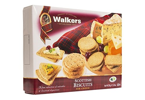 Walkers Shortbread Scottish Biscuits for Cheese Crackers, 8.8 Ounce Box (282)