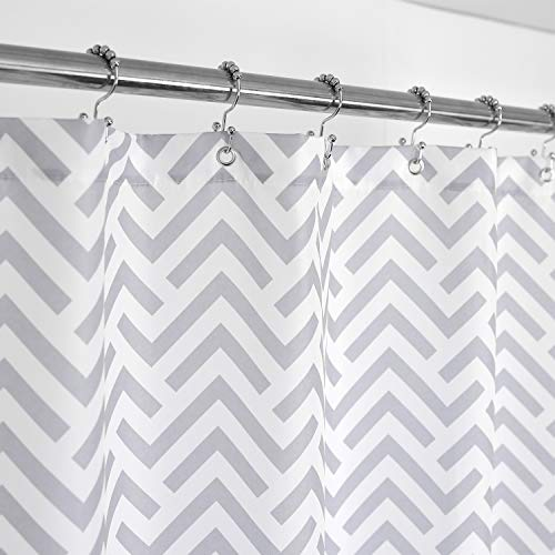 Mrs Awesome Fabric Shower Curtain with Geometric Pattern, 36...