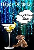 Tarjeta de felicitación de cumpleaños con diseño de perro Bullmastiff Code15