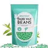 Painless Wax Beads for Hair Removal, WAXTODAY 1lb Hard Wax Beans Tea Tree Formula Full Body Brazilian Bikini Wax Beads for Sensitive Skin, Face, Legs, Eyebrow. Perfect Refill for Any Wax Warmer
