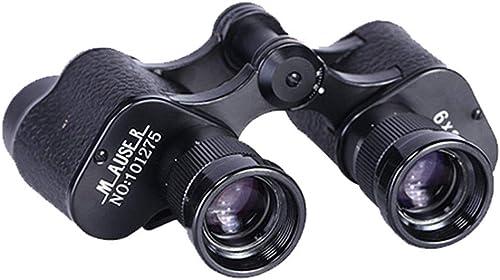 AWEISBS Télescope 6x24 Tout en métal Noir, Prisme léger à oculaires de Grande Taille, Multicouche imperméable, adapté à l'observation Scientifique des Oiseaux et aux Jeux de Plein air