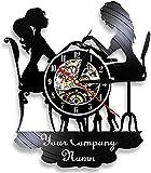 Reloj De Pared Artístico Para Salón De Uñas, Vinilo Reloj De Pared Decoración De Salón De Uñas Estudio Vinilo Reloj De Pared Pegatina Accesorios,Without led