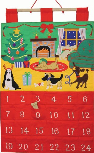 Dog Gone It Fabric Advent Calendar (Countdown to Christmas) by Vermont Christmas Company