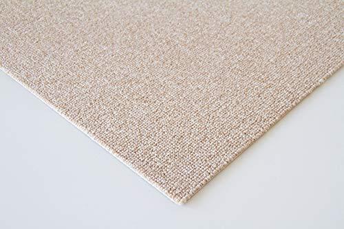 Steffensmeier Schlingen Teppichboden Mailand Meterware   Auslegware für Kinderzimmer Wohnzimmer Schlafzimmer   Beige, Größe: 100x100 cm