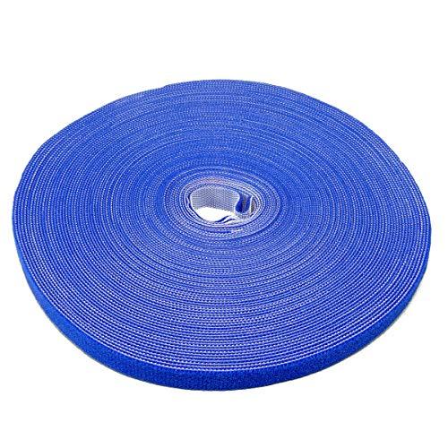Label-the-cable Velcro rollo de cinta de doble cara, velcro presilla se puede...