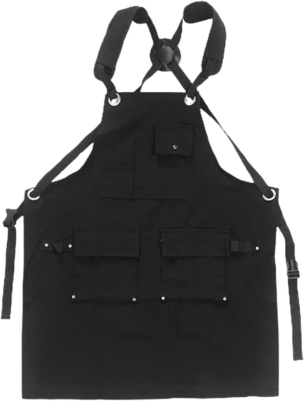 JKXWX Tool Bag Canvas Fully Adjustable Work Apron with Tool Pock