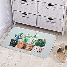 Doormat Cute Cactus Print Bedroom Mats Kitchen and Living Room/Bedroom Mats Floor Mat Rug Indoor (40cm60cm, A)
