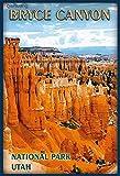 Vintage-Poster, Bryce Canyon Utah, Metall, Retro-Stil, für