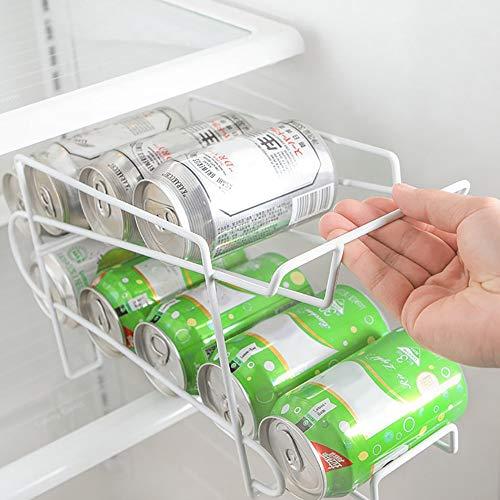 Frigorífico refrigerador Almacenamiento Rack de Doble Capa congelador de Escritorio Estante de Cocina Puede Cerveza Cola Botella de Vino Titular de la Botella Organizador (Color : 2xStorage Racks)