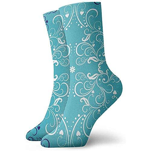 Kevin-Shop Calcetines Tobilleros Art Flowers Deco Calcetines Casuales y acogedores para Hombres, Mujeres, niños