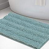 Non Slip Shaggy Bathroom Rugs Blue Bath Rugs for...