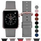 Fullmosa Compatible Apple Watch Bracelet 38mm/40mm(Serie 4) Cuir Véritable, Bracelet...