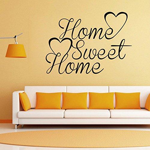 SUNONE11 Home Sweet Home Quote Wall Sticker Home Art Decoration Vinyl Art Decor (5842cm/22.816.5in)