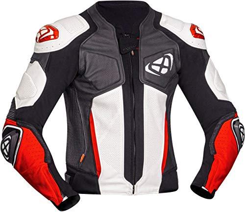 Ixon Vendetta Evo Motorrad Lederjacke Schwarz/Weiß/Rot 3XL