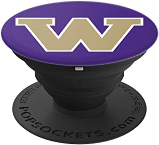 PopSockets: Letter W Washington State Fan Pride Gift - PopSockets Grip and Stand for Phones and Tablets