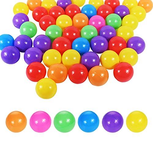 Funmo 50/7Cm Bolas de Colores para Piscina Infantil, Bolas de Plástico para Niños Piscina, Sin Plastificantes, Bola de Océano Colorida para llenar Piscinas de Bolas para bebés