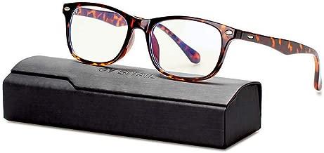 GYsnail Blue Light Blocking Glasses for Men Women, Anti Blue ray Computer Gaming Eyeglasses Anti Eyestrain (Amber)