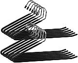 12 Cintres Ouverts Pantalon (Formule éco) - Métal Chromé - Pli Intelligent - Anti Frictions - Choix et Rangement Facile