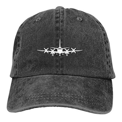 IIFENGLE Gorra de béisbol Retro para Adultos Sombrero de Vaquero Deportivo Sombrero Unisex para Exteriores Sombrero de Camionero Negro P-3 Orion Plasma