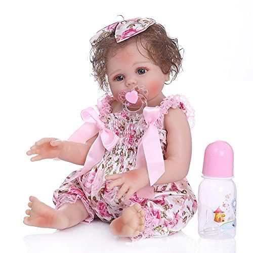 BKONF Muñecas Reborn 19 Pulgadas 48 cm Reborn Niña Juguetes Magnéticos Regalos de Cumpleanos Reborn Toddler Muñeca de Silicona