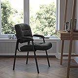 Flash Furniture BT-1404-GG Executive Side Reception Chair Metal, Black LeatherSoft/Black Frame