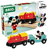 BRIO 32265 Disney Mickey and Friends: Mickey Mouse Battery Train | Wooden Toy Train Set for Kids Age 3 and Up