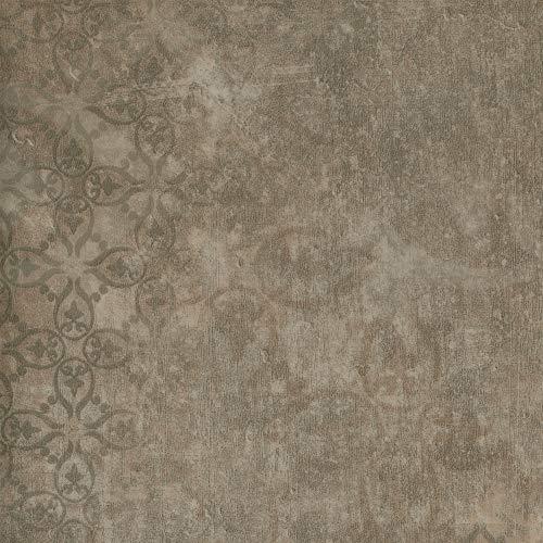 BODENMEISTER BM72618 Vinylboden PVC Bodenbelag Meterware 200, 300, 400 cm breit, Steinoptik Retro Vintage antik grau