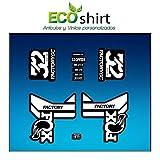 Ecoshirt VU-RP0C-ZPWC Pegatinas Stickers Fork Fox 32 Factory SC Float 2017 Am87 Aufkleber Decals Autocollants Adesivi Forcela Gabel Fourche, Blanco