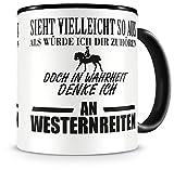 Samunshi® Ich denke an Westernreiten Tasse Kaffeetasse