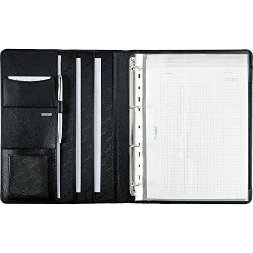 Alassio 30058 - Ringbuchmappe CREMONA II im DIN A4 Format, Schreibmappe aus Nappaleder, Dokumentenmappe in schwarz, Mappe ca. 32 x 25 x 2 cm