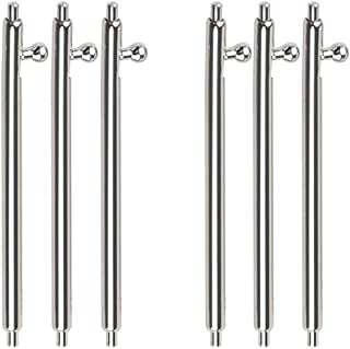 6Pcs Quick Release Spring Bars Watch Pins, Stainless Steel Watch Band Pins 1.5mm Diameter Replacement Watch Lug Link Pins