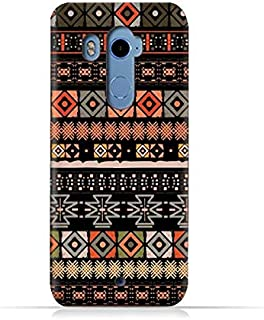 HTC U11 Plus TPU Silicone Case With Ethnic Boho Seamless Pattern