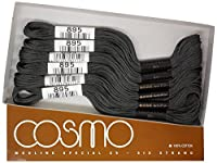 cosmo 25番刺しゅう糸 8m束 Col.895 グレー 系 1箱 6束入り