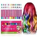 Hair Chalk, Luckyfine 12 Color Temporary Hair Color, Hair Chalk Hair Chalk Pens, Washable Hair Dye Chalk Safe