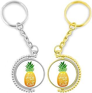 Doe-het-zelf ananasring van metaal, goudkleurig, sleutelhanger