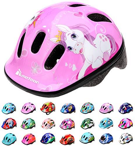 Casco Bicicleta Bebe Helmet Bici Ciclismo para Niño - Cascos para Infantil Bici Helmet para Patinete Ciclismo Montaña BMX Carretera Skate Patines monopatines MV6-2 (XS(44-48cm), Pony)